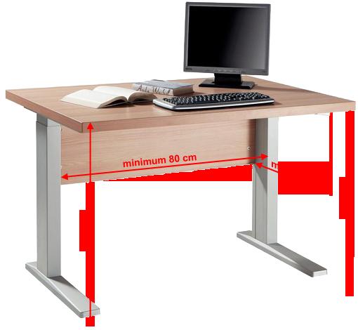 akadálymentesítés: térdszabad asztal